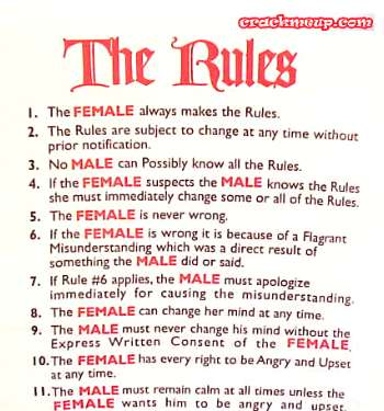 funny rules for dating